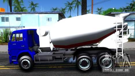 KamAZ 65115 Mixer Caminhão para GTA San Andreas esquerda vista