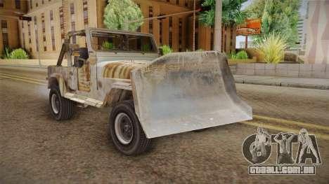 Jeep Wrangler Mad Max Style para GTA San Andreas vista direita