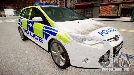 Ford Focus police UK para GTA 4