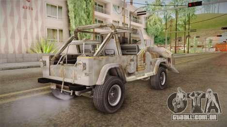 Jeep Wrangler Mad Max Style para GTA San Andreas traseira esquerda vista