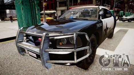 Dodge Charger Police para GTA 4 vista direita