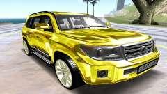 Toyota Land Cruiser 200 жёлтый para GTA San Andreas