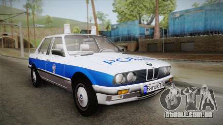 BMW 323i E30 Turkish Police para GTA San Andreas