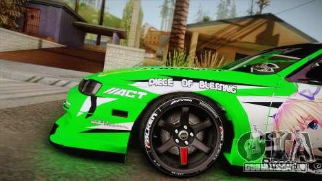 Nissan Silvia S14 Drift Speedhunters Saekano para GTA San Andreas traseira esquerda vista