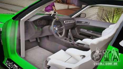 Nissan Silvia S14 Drift Speedhunters Saekano para GTA San Andreas vista interior