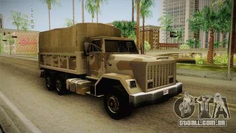 Barracks GTA 5 para GTA San Andreas vista direita
