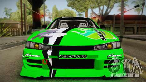 Nissan Silvia S14 Drift Speedhunters Saekano para GTA San Andreas vista direita