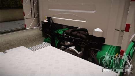 Scania R620 ONEXOX para GTA San Andreas vista interior