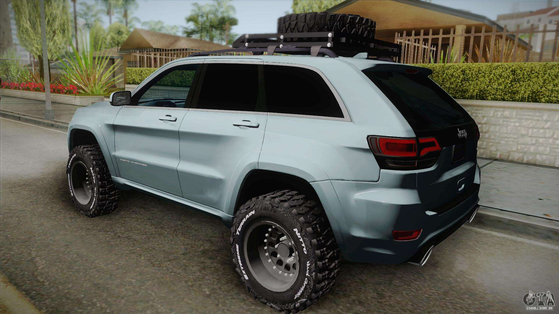 Jeep Grand Cherokee SRT Lifted Para GTA San Andreas Esquerda Vista