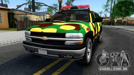 Chevrolet Suburban 2006 Camo para GTA San Andreas