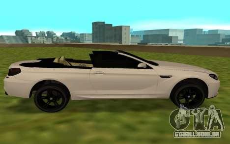 BMW M6 F13 Cabrio para GTA San Andreas esquerda vista