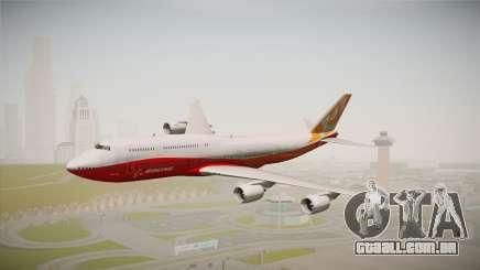 Boeing 747-8I Sunrise Livery para GTA San Andreas