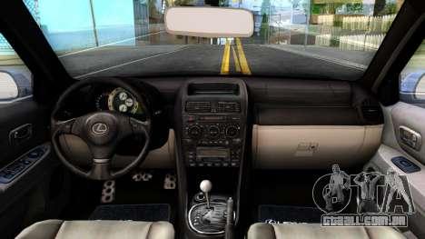 Lexus IS300 Rocket Bunny para GTA San Andreas vista interior