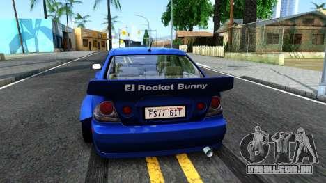Lexus IS300 Rocket Bunny para GTA San Andreas traseira esquerda vista