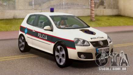 Golf V BIH Police Car V2 (Single Siren) para GTA San Andreas