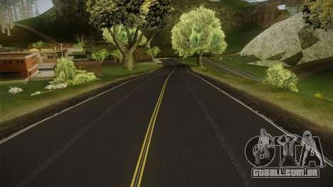 8K Country Road Textures para GTA San Andreas por diante tela