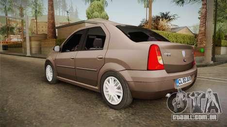 Renault Logan para GTA San Andreas esquerda vista