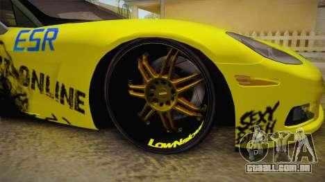 Chevrolet Corvette 2006 Philippines para GTA San Andreas vista traseira