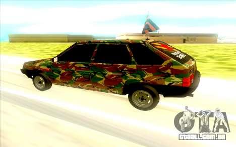 2109 para GTA San Andreas esquerda vista