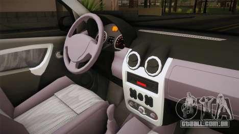 Renault Logan para GTA San Andreas vista interior