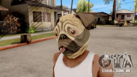 Máscara De Cachorro Pug para GTA San Andreas