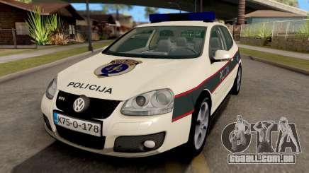 Volkswagen Golf V - BIH Police Car para GTA San Andreas