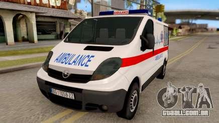 Opel Vivaro Serbian Ambulance para GTA San Andreas