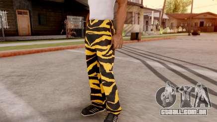 Tigre calças para GTA San Andreas