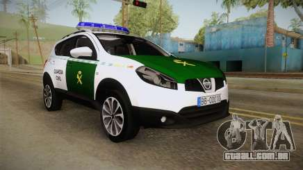 Nissan Qashqai Guatdia Civil Spanish para GTA San Andreas