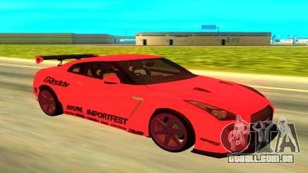 Nissan GTR R35 vermelho para GTA San Andreas