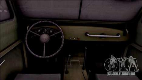 GAZ 69UM para GTA San Andreas vista interior