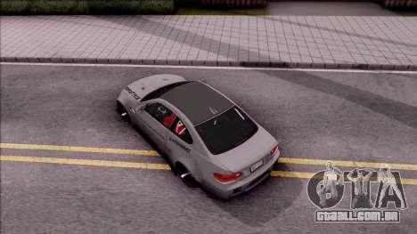 BMW M3 E92 Liberty Walk Performance 2013 para GTA San Andreas vista traseira