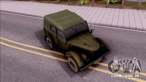 GAZ 69UM para GTA San Andreas vista direita