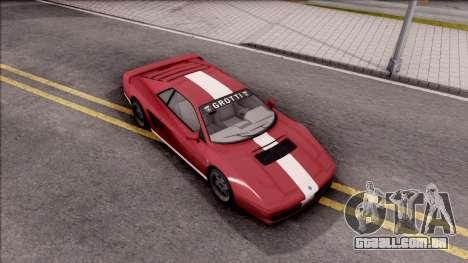 GTA V Grotti Cheetah Classic para GTA San Andreas