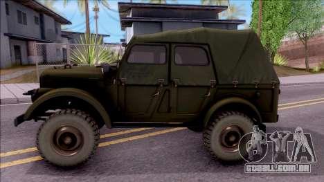 GAZ 69UM para GTA San Andreas esquerda vista