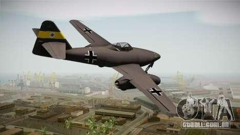 Messerschmitt Me-262 Schwalbe para GTA San Andreas esquerda vista