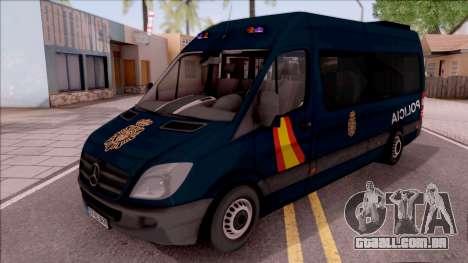 Mercedes-Benz Sprinter Spanish Police para GTA San Andreas