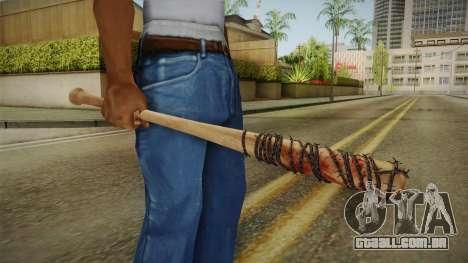 Lucille Negan Baseball Bat The Walking Dead para GTA San Andreas terceira tela