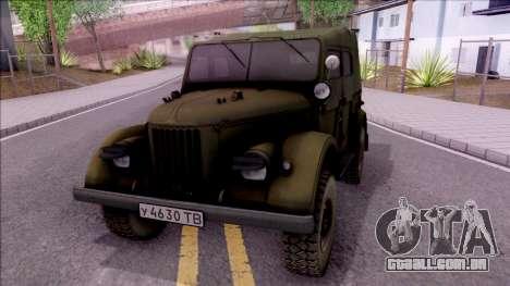 GAZ 69UM para GTA San Andreas