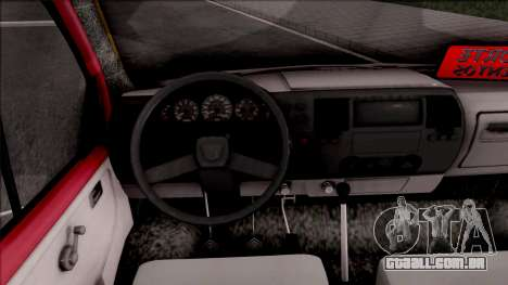 Iveco Turbo Daily para GTA San Andreas vista interior