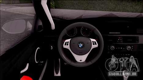 BMW M3 E92 Liberty Walk Performance 2013 para GTA San Andreas vista interior