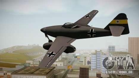 Messerschmitt Me-262 Schwalbe para GTA San Andreas vista direita