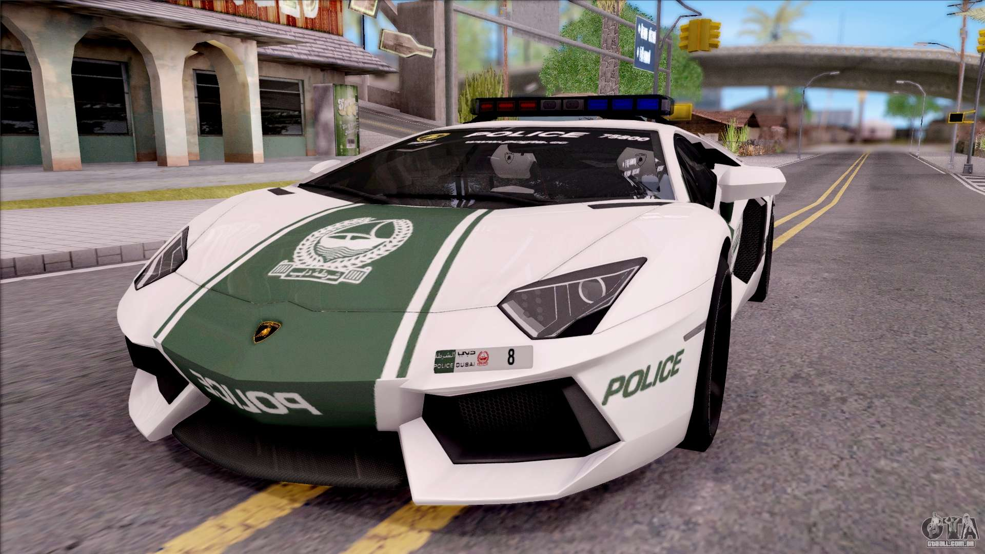 lamborghini aventador lp700 4 dubai hs police para gta san andreas. Black Bedroom Furniture Sets. Home Design Ideas