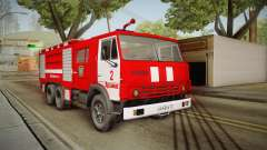 KamAZ 53212 caminhão de bombeiros na cidade de A
