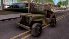 Jeep Willys MB Military para GTA San Andreas