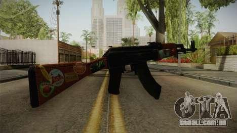 CS: GO AK-47 Jet Set Skin para GTA San Andreas segunda tela