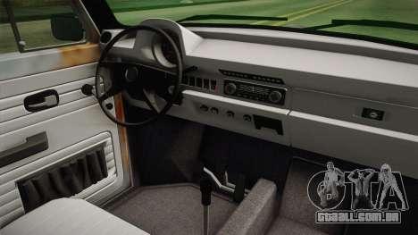 Volkswagen Beetle Rusty para GTA San Andreas vista interior