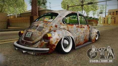 Volkswagen Beetle Rusty para GTA San Andreas esquerda vista