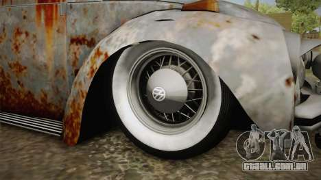 Volkswagen Beetle Rusty para GTA San Andreas vista traseira