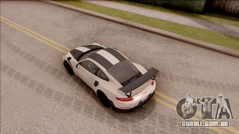 Porsche 911 GT2 RS Weissach Package SA Plate para GTA San Andreas vista traseira